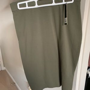 Dresses & Skirts - Army green midi skirt